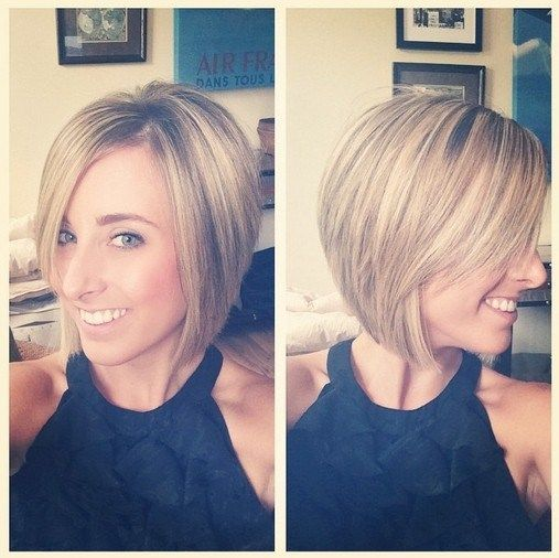 Short Bob Hairstyles 2016 With Bangs Asymmetric Along Side Swept
