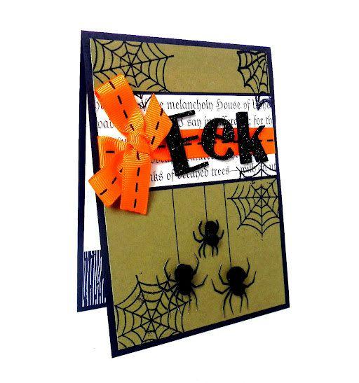 halloween card eek spider handmade halloween greeting card - Handmade Halloween Cards Pinterest