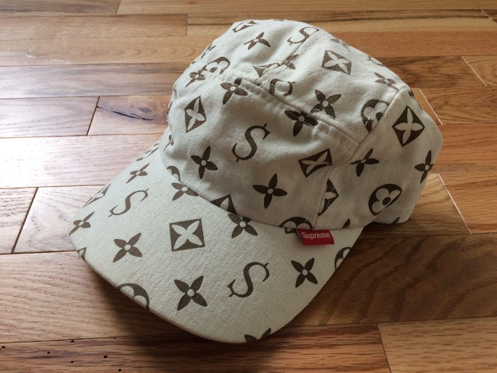 0c48e829a177 Supreme Louis Vuitton Monogram Cap Original Authentic Hat 2000 Box Logo  BrownÂ