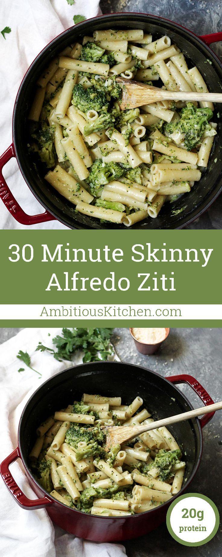 30 Minute Skinny Alfredo Ziti With Broccoli  Recipe -9027