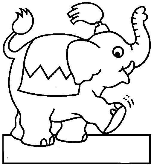 Dibujos Para Colorear Circo 23 Elephant Coloring Page Circus Theme Preschool Animal Drawings