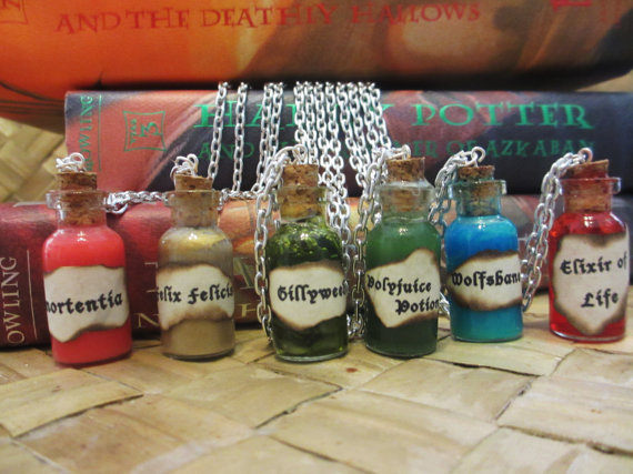 Harry Potter Potion Charm Necklace Homemade By Animezing