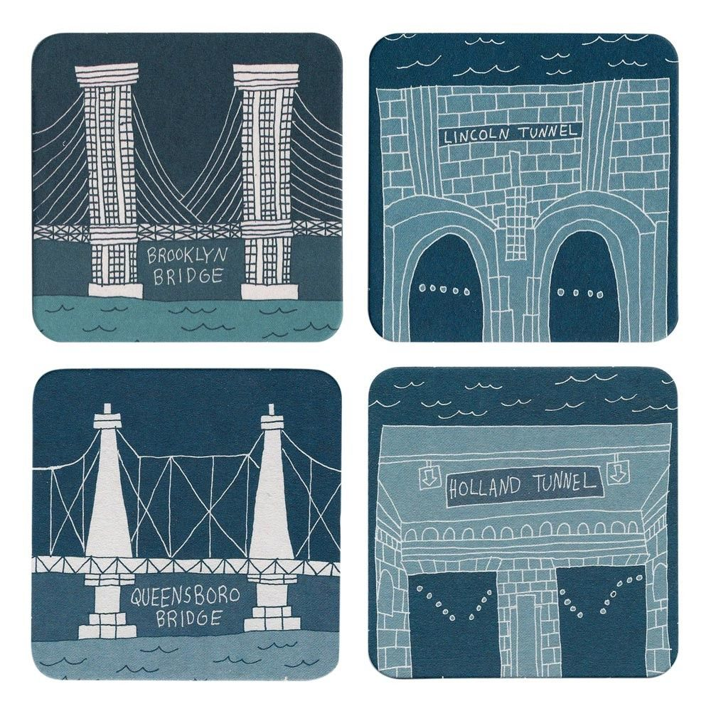 Bridge and Tunnel Coasters Set of 12 - for cocktail hour?