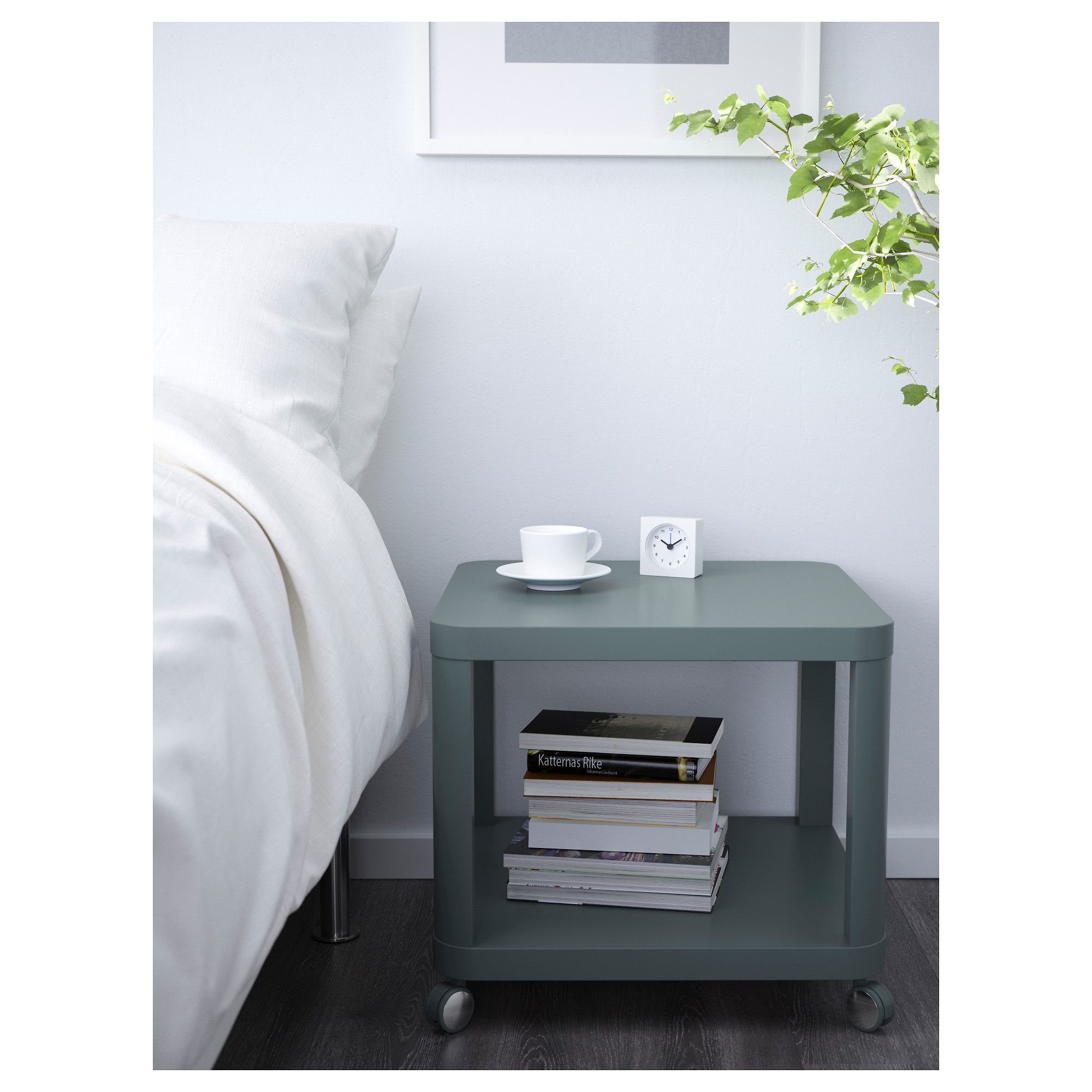 Ikea Tingby Side Table On Casters Turquoise Ikea Side Table Ikea Table