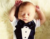 First birthday outfit Baby Tuxedo onesie Wedding by JoysLilTuxes