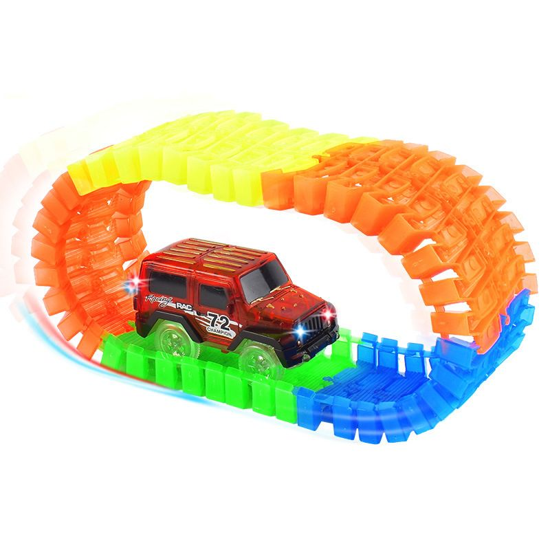 Car Toys Glow Racing Track Diy Car Track Toy Car Electronic Rail Glow Race Racing Car Set Toy Puzzle Roller Coaster Toys For Kid Kid Shop Global Kids Baby