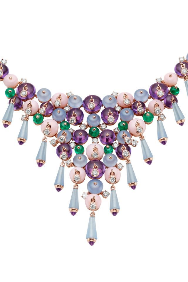 396f82fa5f6cc Bulgari posted a few of their high jewelry pieces from the collection  exhibited at the 26th Biennale des Antiquaires in Paris