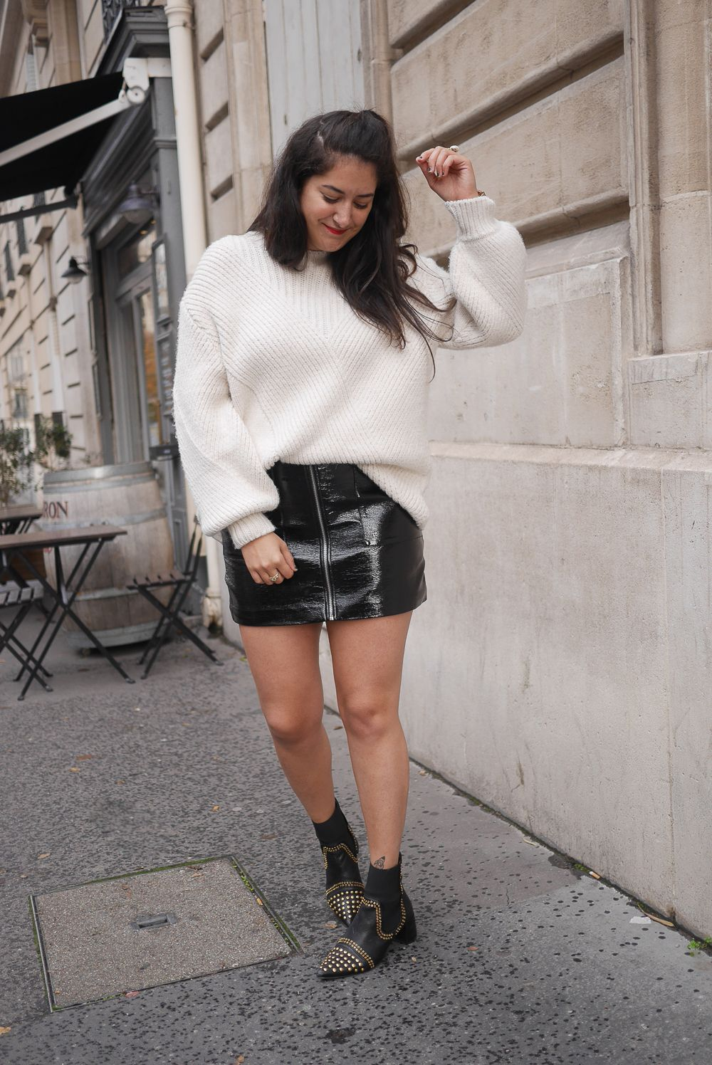 Fabuleux La jupe vinyle | Jupes classiques, Gros pull et Comment porter BF72