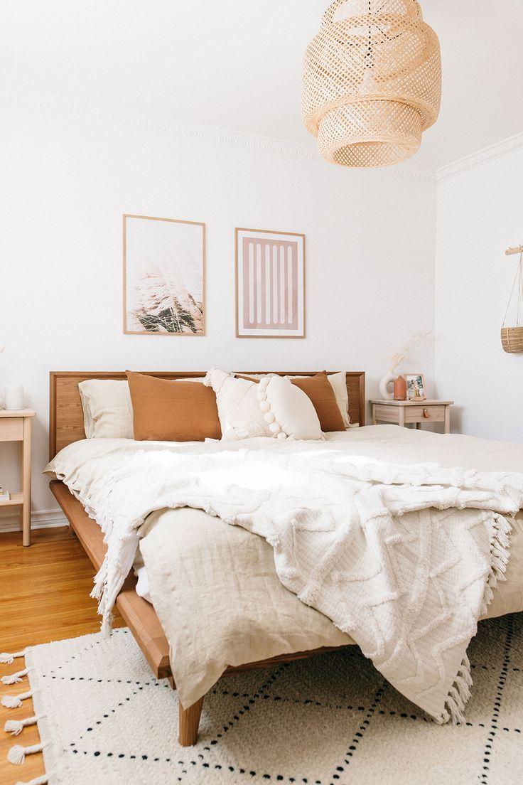 Boho Bedroom Decor With Linen Bedding