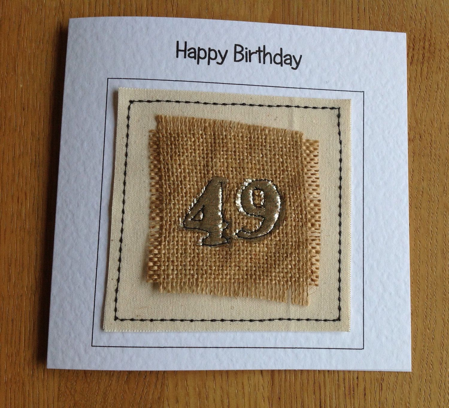 age 49 personalised birthday card any age birthday card