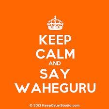 Waheguru is what we call God and is what we chant oif we are scared or if we dont know how to read Gurmukhi (our language which we read and write and also speak)