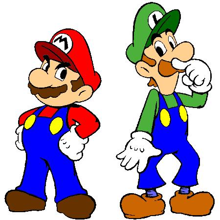 Coloriage Mario Et Luigi A Imprimer Mario Et Luigi Mario