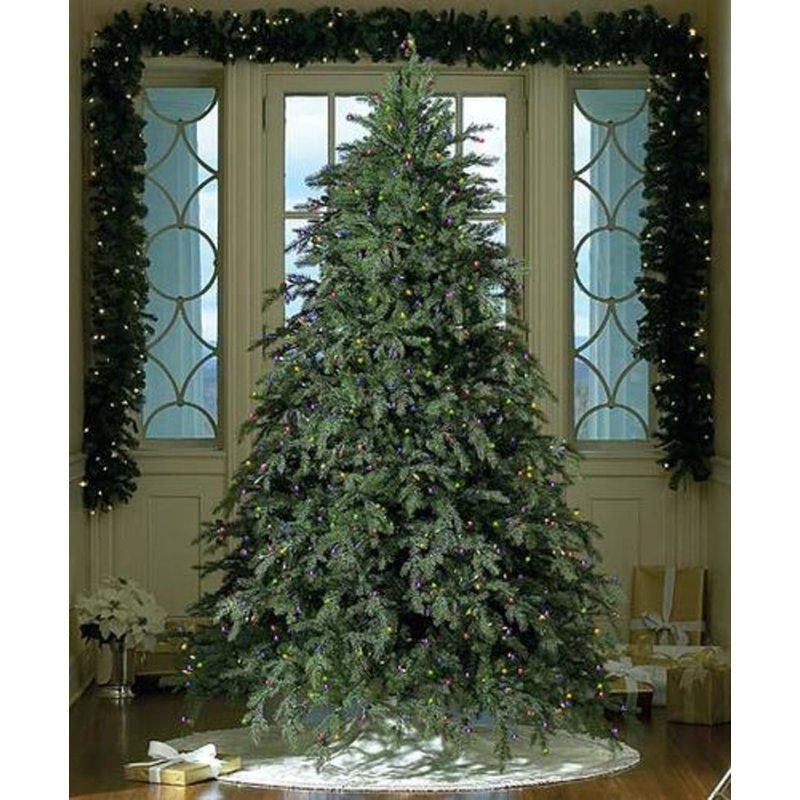 Full 90 Green Artificial Christmas Tree With 850 Clear White
