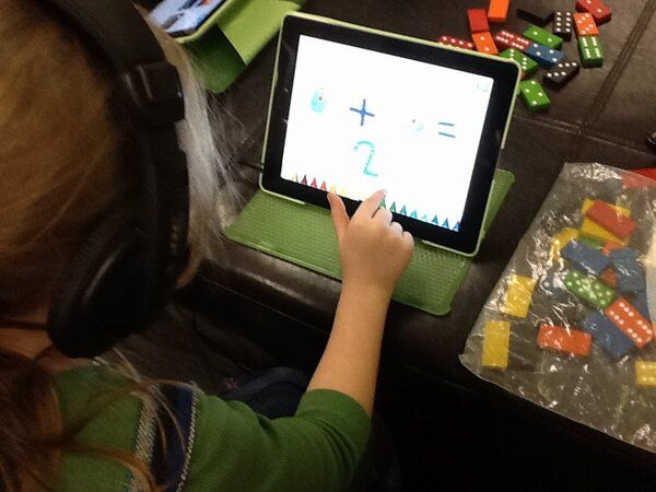 Students using Superhero Comic Book Maker to create double facts ...