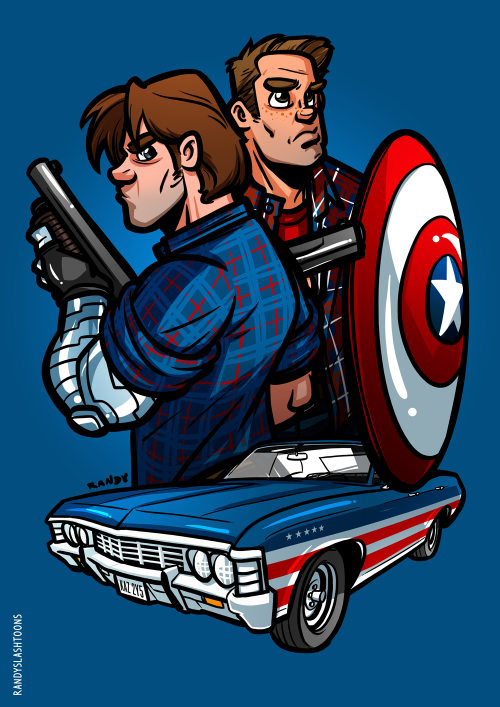 Captain America: The Wincest SoldierSociety6 | Redbubble | SHIP