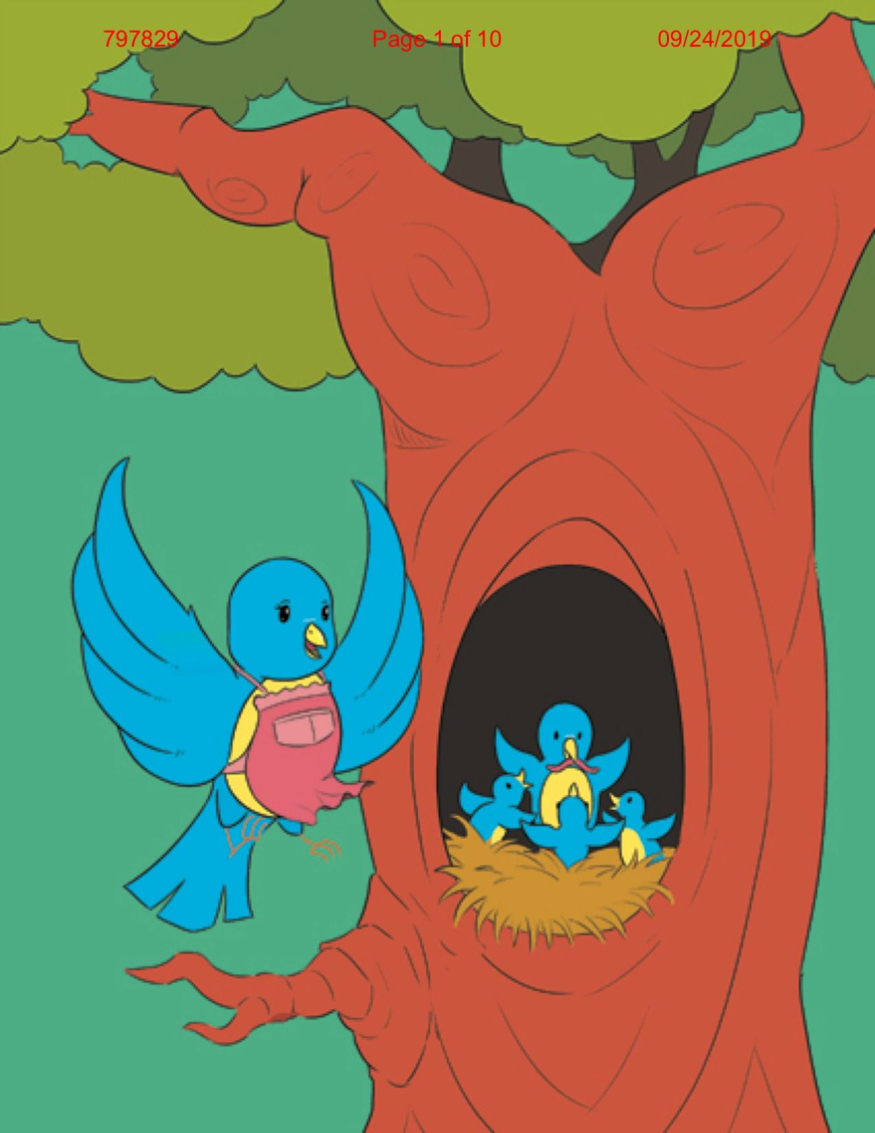 Beautifully illustrated little blues runaway adventure