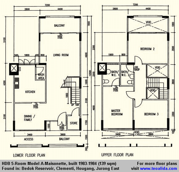 Hdb 5 Room Model A Maisonette 139 Sqm Floor Plans Apartment Floor Plan How To Plan