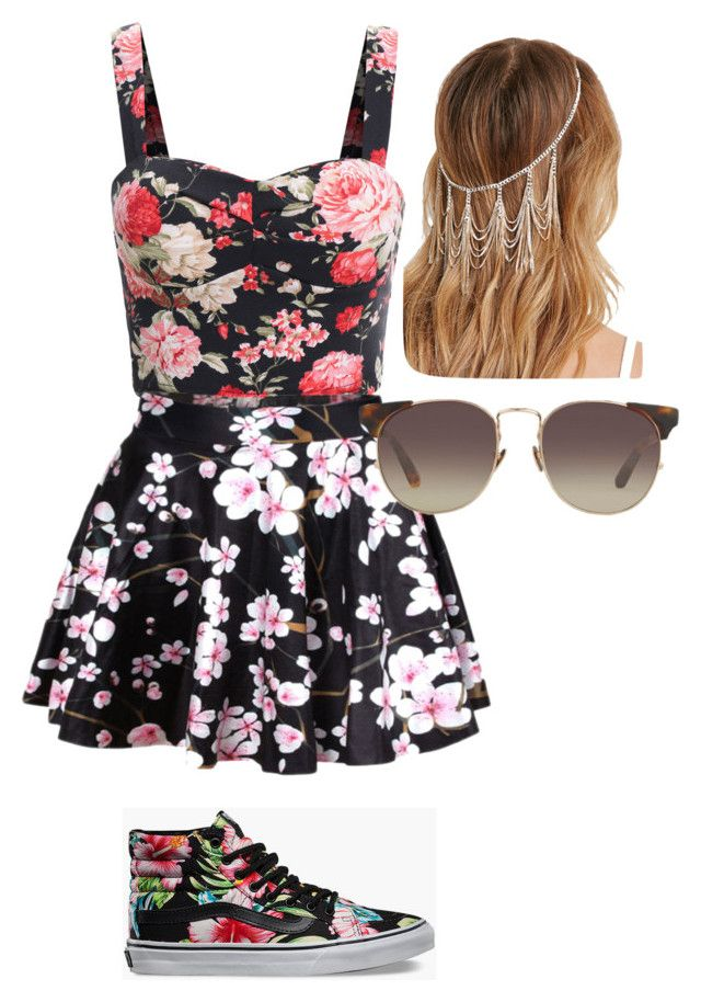 """""""Non matching but still pretty cute"""" by xxx5saucexxx ❤ liked on Polyvore featuring Vans, Forever 21 and Linda Farrow"""