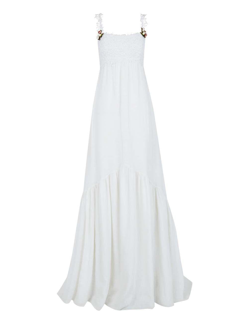 Vestido de novia lino con jaretas de ¡Oh que luna | Vestidos de ...