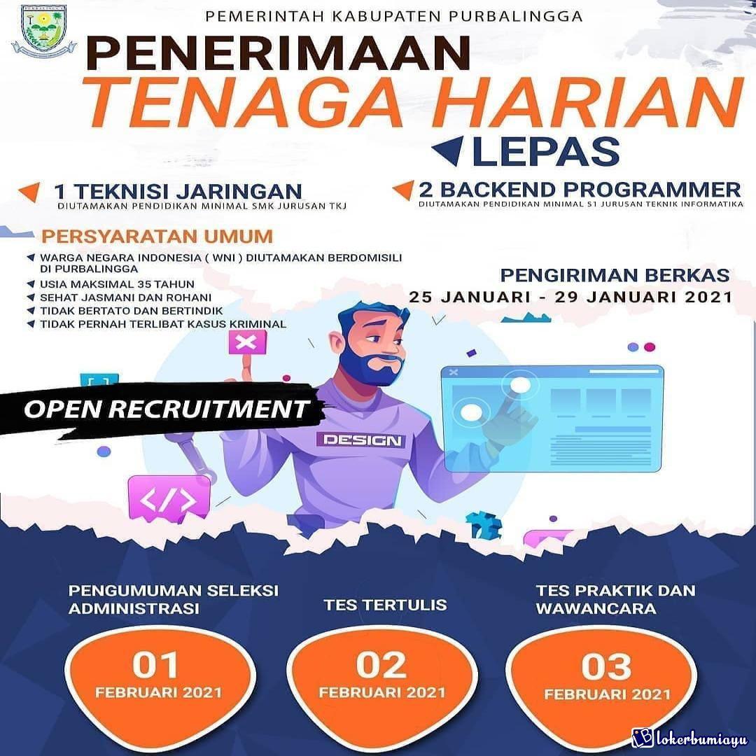 Lowongan Kerja Dinas Komunikasi Dan Informatika Kabupaten Purbalingga Di 2021 Komunikasi Kerja Teknik