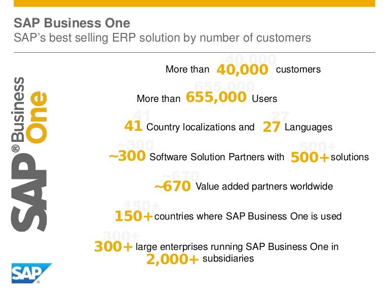 SAP Business One - The facts about SAPu0027s top selling ERP (by - sap b1 consultant resume