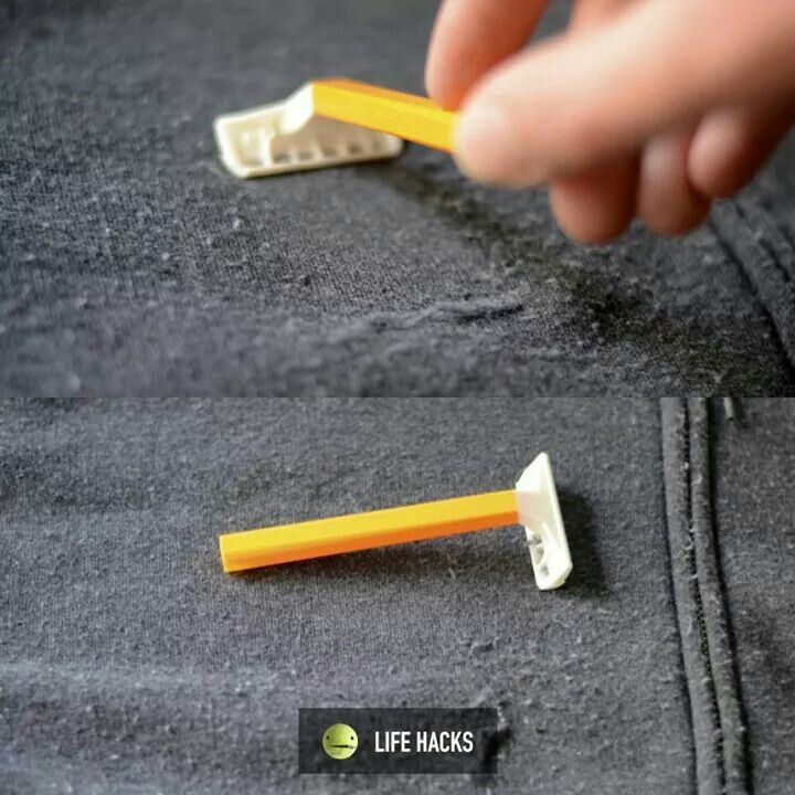 Use a razor to remove lint from clothes | Remove lint, Remove lint ...