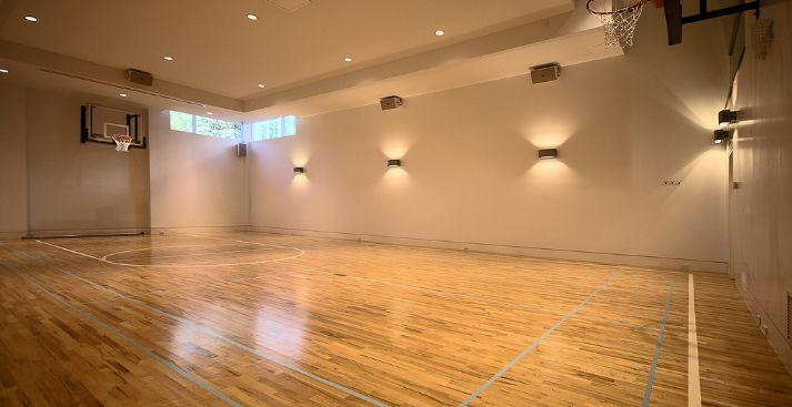 Pin By Beetle A Little On Indoor Basketball Courts Basketball Court Flooring Home Basketball Court Indoor Basketball Court