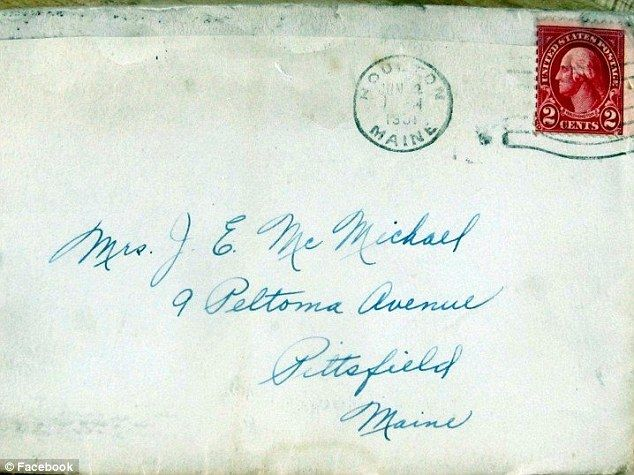 Young school teacher's letter home to mom sent in 1931 finally delivered 83 years later  (Daily Mail 02 July 2014)