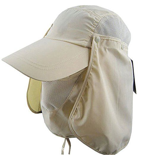 d616f190fef Ezyoutdoor Outdoor Jungle Fishing 360 Degree UV Protection Sun Block Hat  Folding Visor Nylon Cap Mesh Bucket Flap Hats
