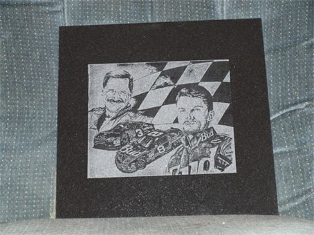 Dale And Jr Plaque 12x12 Black Granite Tile Name Can Be Added Black Granite Tile Granite Tile Custom Granite