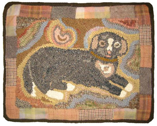 Hooked Rug Pattern - Socks the Dog by Briarwoodfolkart on Etsy https://www.etsy.com/listing/466436638/hooked-rug-pattern-socks-the-dog