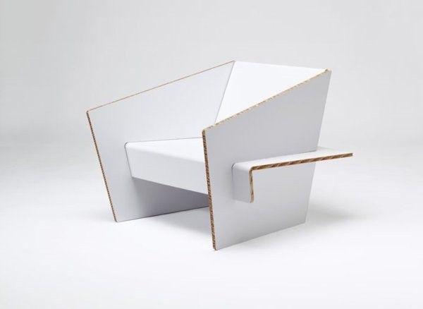 Meubles En Carton Suggestions Originales Mobilier De Salon Chaise En Carton Meubles En Carton