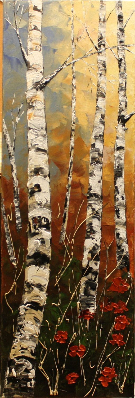 Große Landschaftskunst, abstrakte Baummalerei, ursprüngliche strukturierte Kunst, großes Gemälde, abstrakter Fallbaum, handgemalte Kunst, strukturierte Kunst-Nata - Yasmin Fashions #falltrees