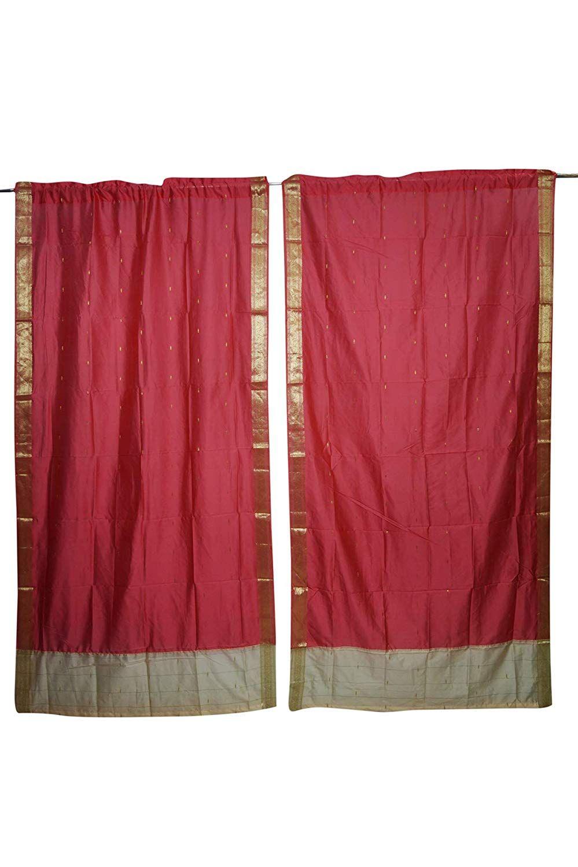 Mogul Interior Home Decor Curtains Red Window Draperies