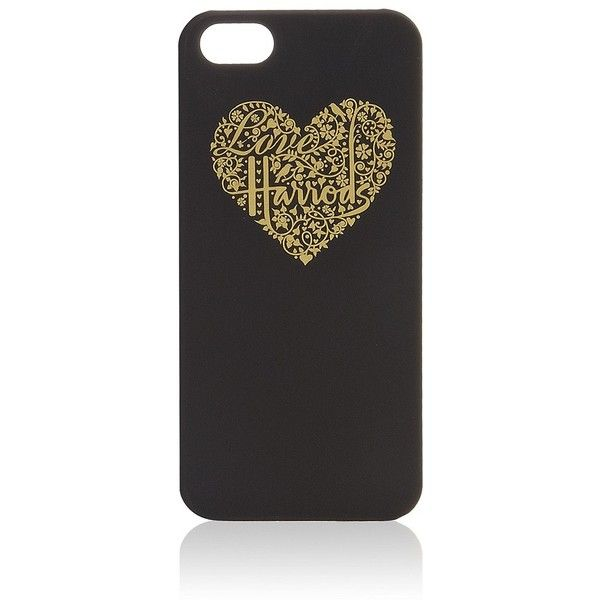 Harrods Heart iPhone 5 Case ($21) ❤ liked on Polyvore featuring accessories, tech accessories, phone cases, phones, cases, iphone, iphone cover case, iphone case, apple iphone cases and iphone hard cases