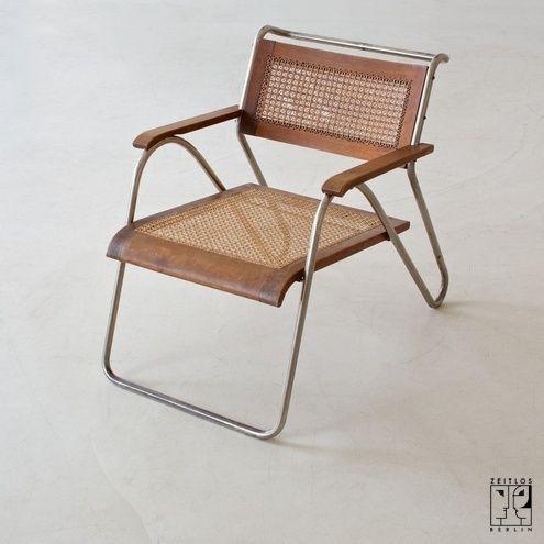 Extremely Rare Tubular Steel Chair By Erich Dieckmann Zeitlos A Berlin Bauhaus Mobel Mobeldesign Stuhl Design