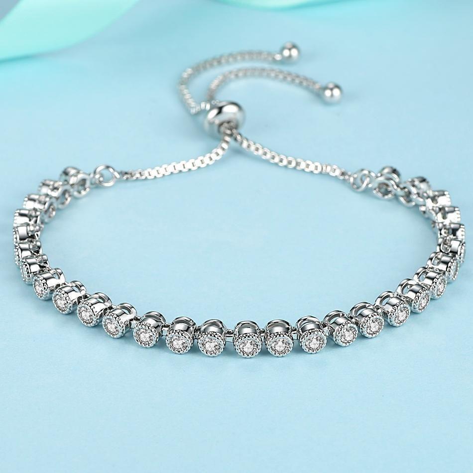 Fashion adjustable white gold charm bracelet for women christmas