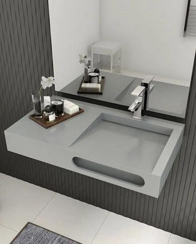 28 Creative Bathroom Sink Ideas You Should Try 24 In 2020 Washbasin Design Modern Bathroom Sink Bathroom Trends