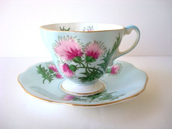 Vintage Teacup and Saucer Bone China English  E B by Kisses4Lucy, $25.00