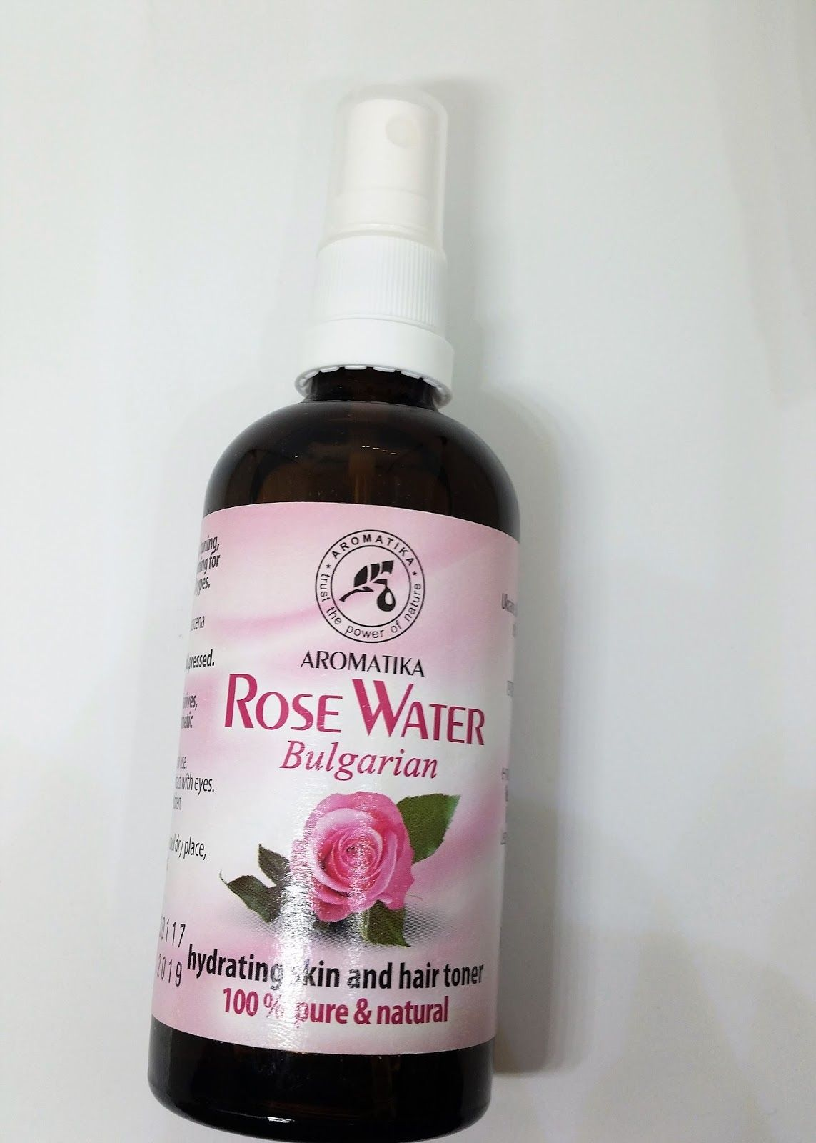 100 Pure Rosewater Toner Pure Products Rose Water Natural Rose Water