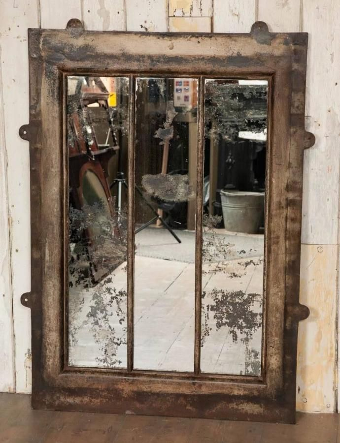 Antique Victorian cast iron window mirror for sale on SalvoWEB from  Architectural Forum, London [ - Antique Victorian Cast Iron Window Mirror For Sale On SalvoWEB