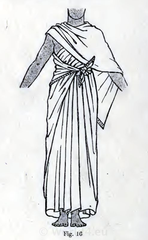 The Egyptian Shawl or Drapery. How to wear ancient Egypt costumes.