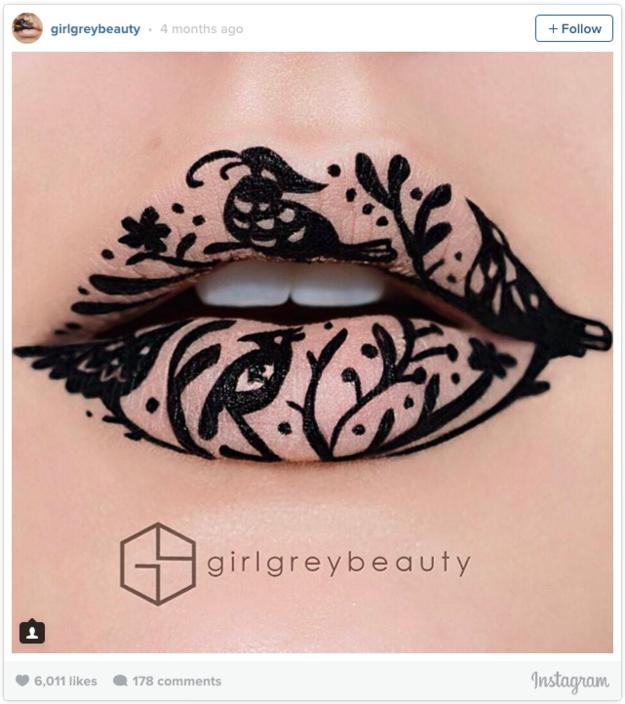 Photo of 17 Leute, die mit Lippenstiften wahre Kunstwerke hervorzaubern können