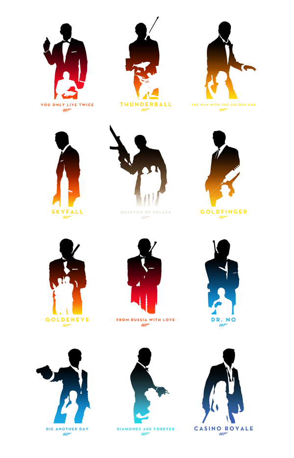 Ian Fleming's James Bond 50th Anniversary Posters