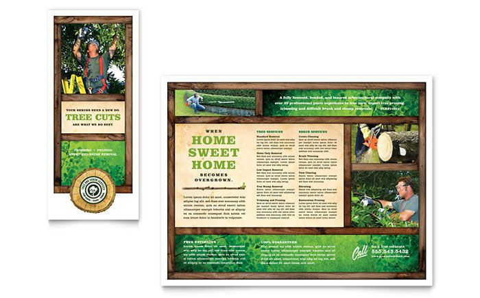 Tree Service Tri Fold Brochure Design Template by StockLayouts