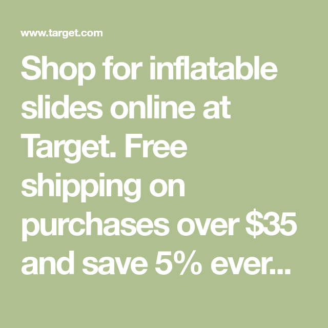 Shop For Inflatable Slides Online At Target Free Shipping