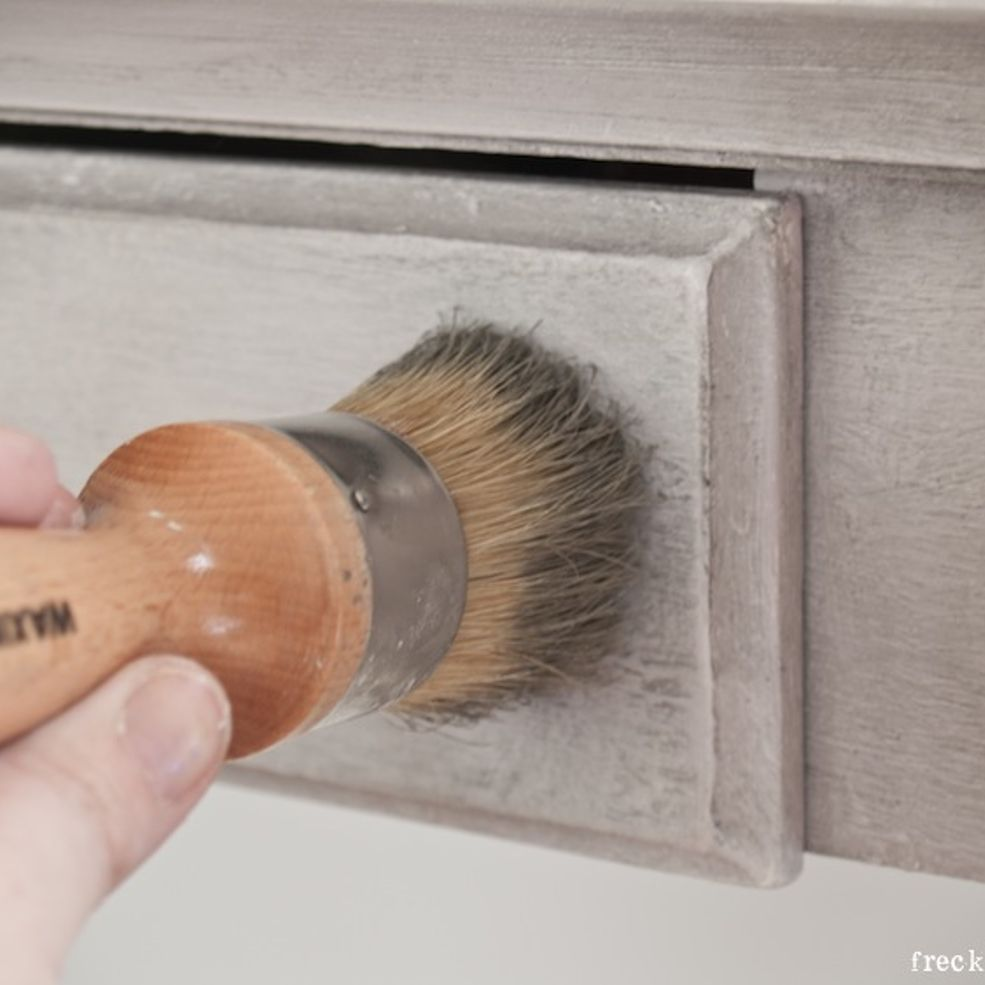 how to create weathered wood finish