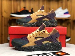 af1bee0ebbaed Nike Air Huarache Run Premium Anthracite Pro Purple Elemental Gold 704830  012 Men s Women s Running Shoes