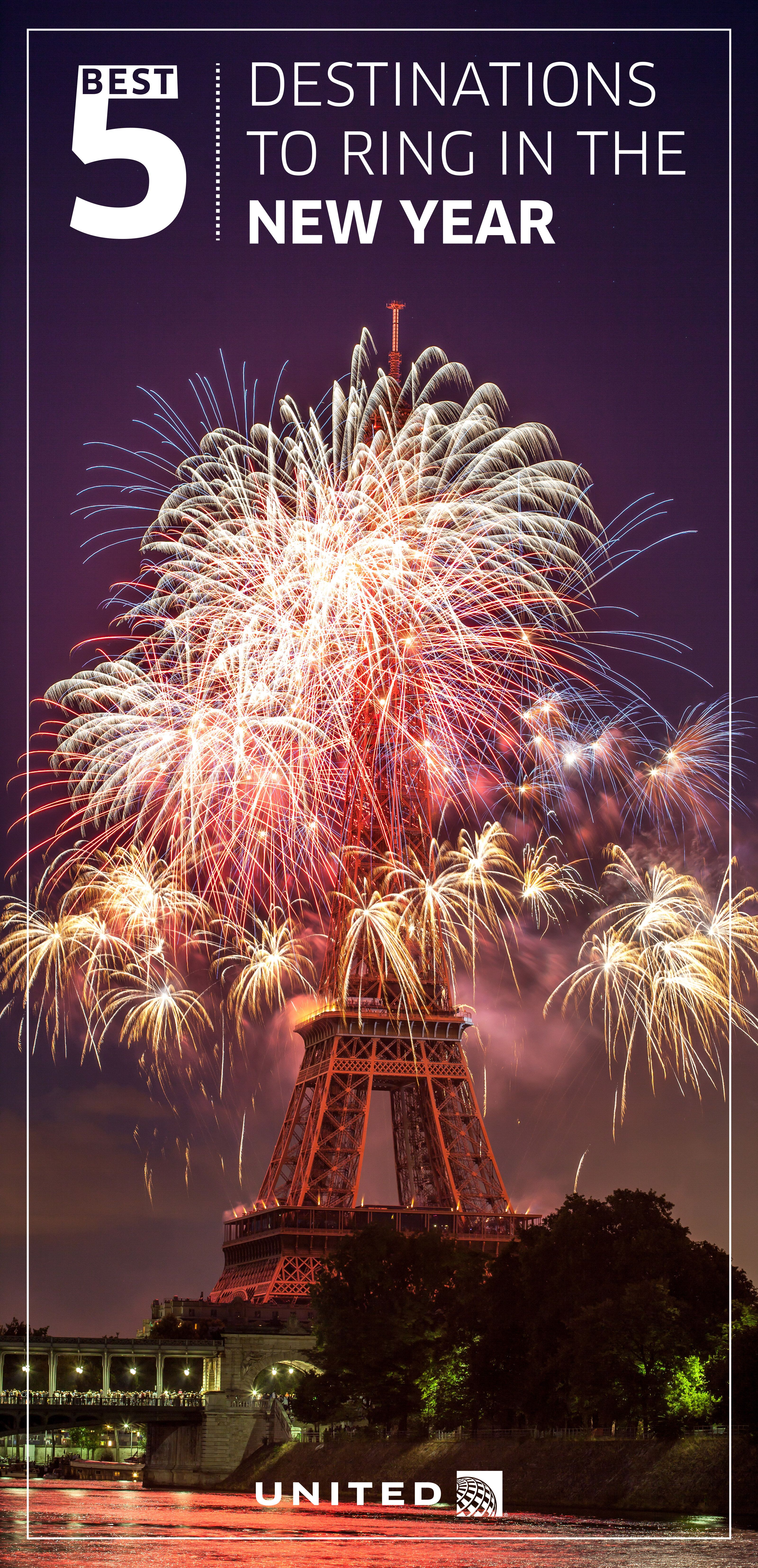 top 5 destinations to ring in the new year pinterest paris