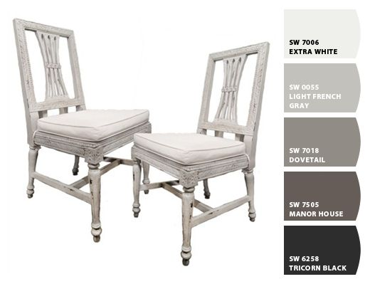 Gray And White Tones Paint Colors By Sherwin Williams Sw Extra White Sw Light French Gray